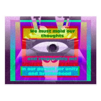 We must mold our thoughts and responsibly postcard