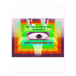 We must mold our thoughts postcard