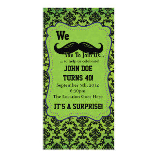 We Mustache You to Join Us Photo Greeting Card