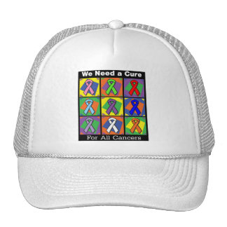 We Need a Cure For All Cancers Mesh Hat