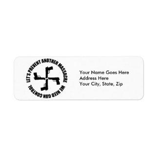 We Need Gun Control Return Address Label