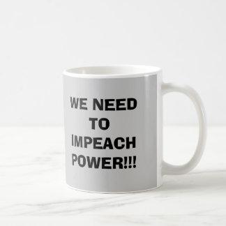 WE NEED TOIMPEACHPOWER!!!, America in distress Basic White Mug