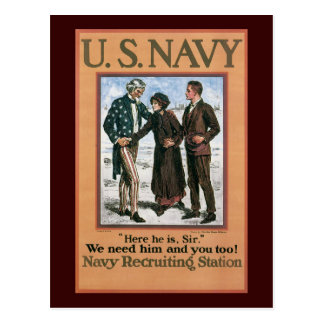 We Need You World War 2 Postcard