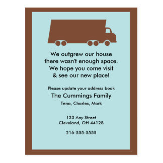 We Outgrew Our House Postcard