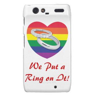 We Put a Ring on It Gay Wedding Motorola Droid RAZR Cases