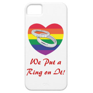 We Put a Ring on It Gay Wedding iPhone 5 Case
