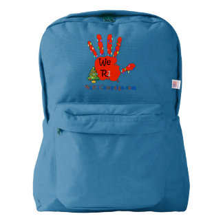 We R1 Christmas Hand Backpack