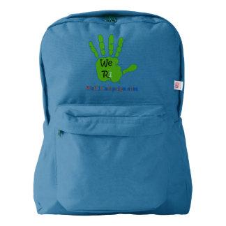 We R1 Green Hand Backpack