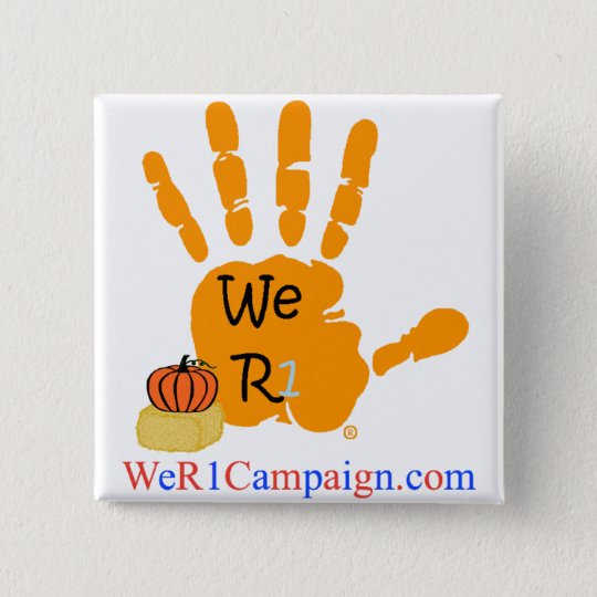We R1 Orange (Halloween) Hand Button