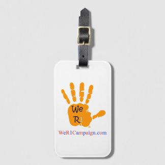 We R1 Orange Hand Luggage Tag