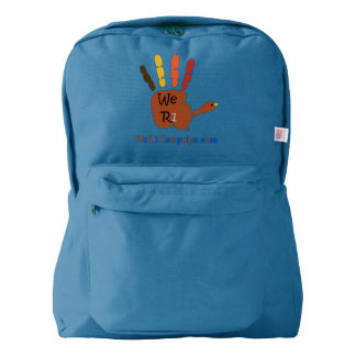 We R1 Thanksgiving Hand Backpack