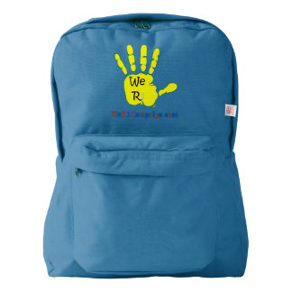 We R1 Yellow Hand Backpack