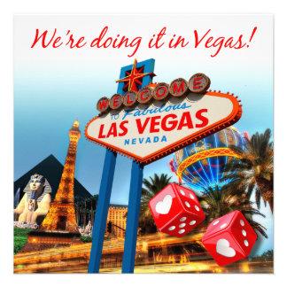 We re Doing it in Vegas Wedding Announcements