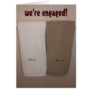 we re engaged announcement greeting cards
