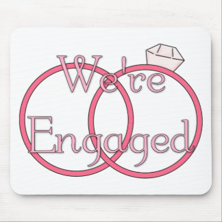 We re Engaged Pink Mouse Pads