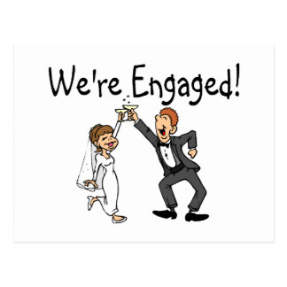 We re Engaged Postcards
