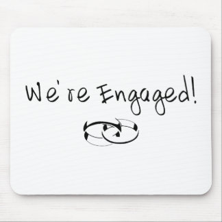 We re Engaged Rings Mouse Mat