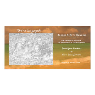 We re Engaged Tropical Sea Photo Cards