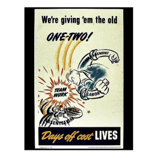 We re Giving Em The Old One-Two Postcard
