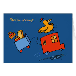 We re Moving Bird Card