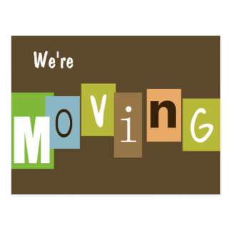 We re Moving Postcard
