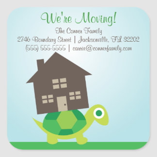 We re Moving - Turtle Mover Stickers