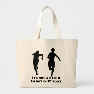 We re not running a real race unless I m winning Tote Bags