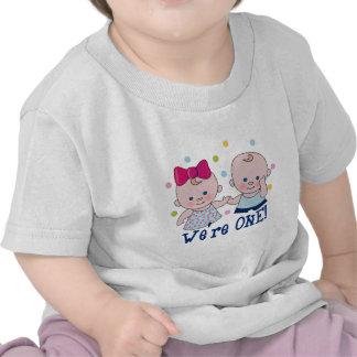 We re One Boy Girl Birthday T-shirt