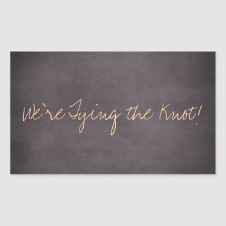 We re Tying the Knot Wedding Invite Stickers
