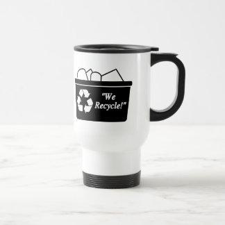 We Recycle Stainless Steel Travel Mug
