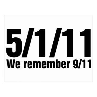 We Remember 9/11 Postcard