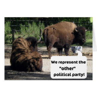 """We represent the """"other"""" political party! cards"""