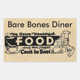 """We Serve Wonderful Food"" Customized Restaurant Rectangular Sticker"