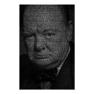 We Shall Fight on the Beaches - Churchill Quote Poster