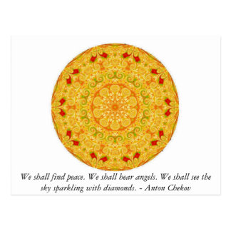 We shall find peace. We shall hear angels......... Postcard