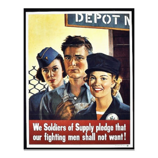 We Soldier Of Supply Pldege That Our Fighting Men 21.5 Cm X 28 Cm Flyer