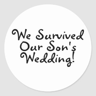 We Survived Our Sons Wedding Sticker