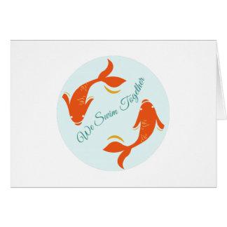 We Swim Together Card