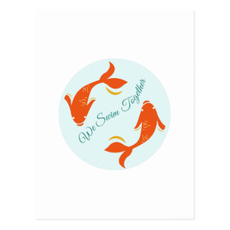 We Swim Together Post Card