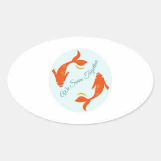 We Swim Together Stickers