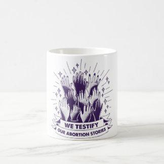 We Testify Mug