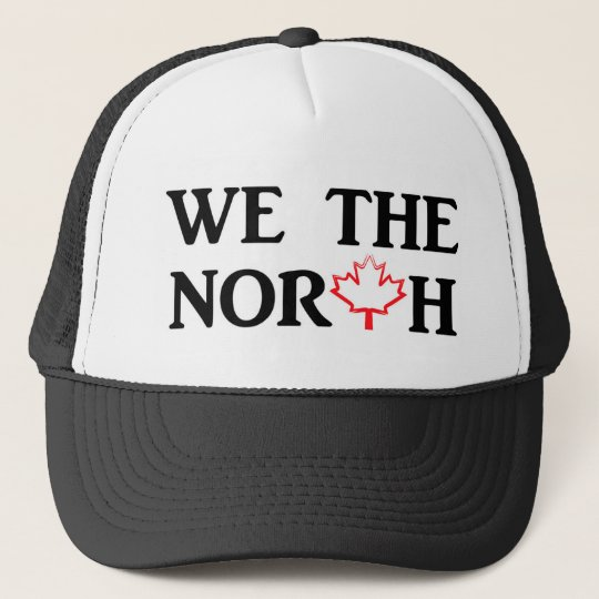 We the North with Red Maple Leaf Cap