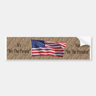 We The People2 Car Bumper Sticker