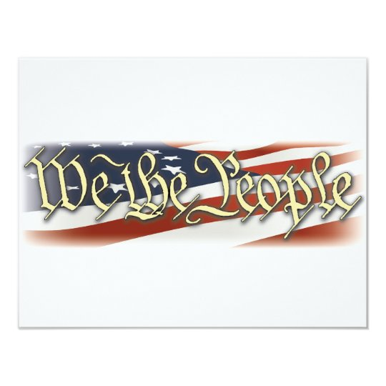 We The People 11 Cm X 14 Cm Invitation Card