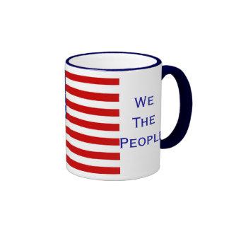 We The People American Citizenship Flag Mug Mugs