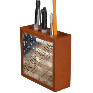 WE THE PEOPLE AMERICAN FLAG DESK ORGANIZER