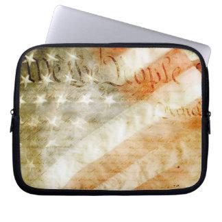 We the People American Flag Laptop Sleeve