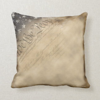 We The People American Flag Vintage Style Pillow