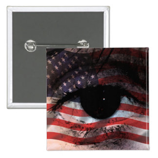 WE THE PEOPLE ARE WATCHING YOU! 15 CM SQUARE BADGE