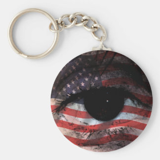 WE THE PEOPLE ARE WATCHING YOU! BASIC ROUND BUTTON KEY RING